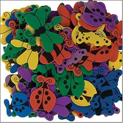 i-mondi Mariposas de foamy para manualidades 120 piezas motivos y colores surtidos