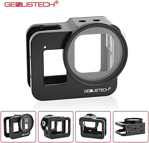 Genustech Cage for GoPro Hero 8 Black Action Camera, Aluminum Alloy Case