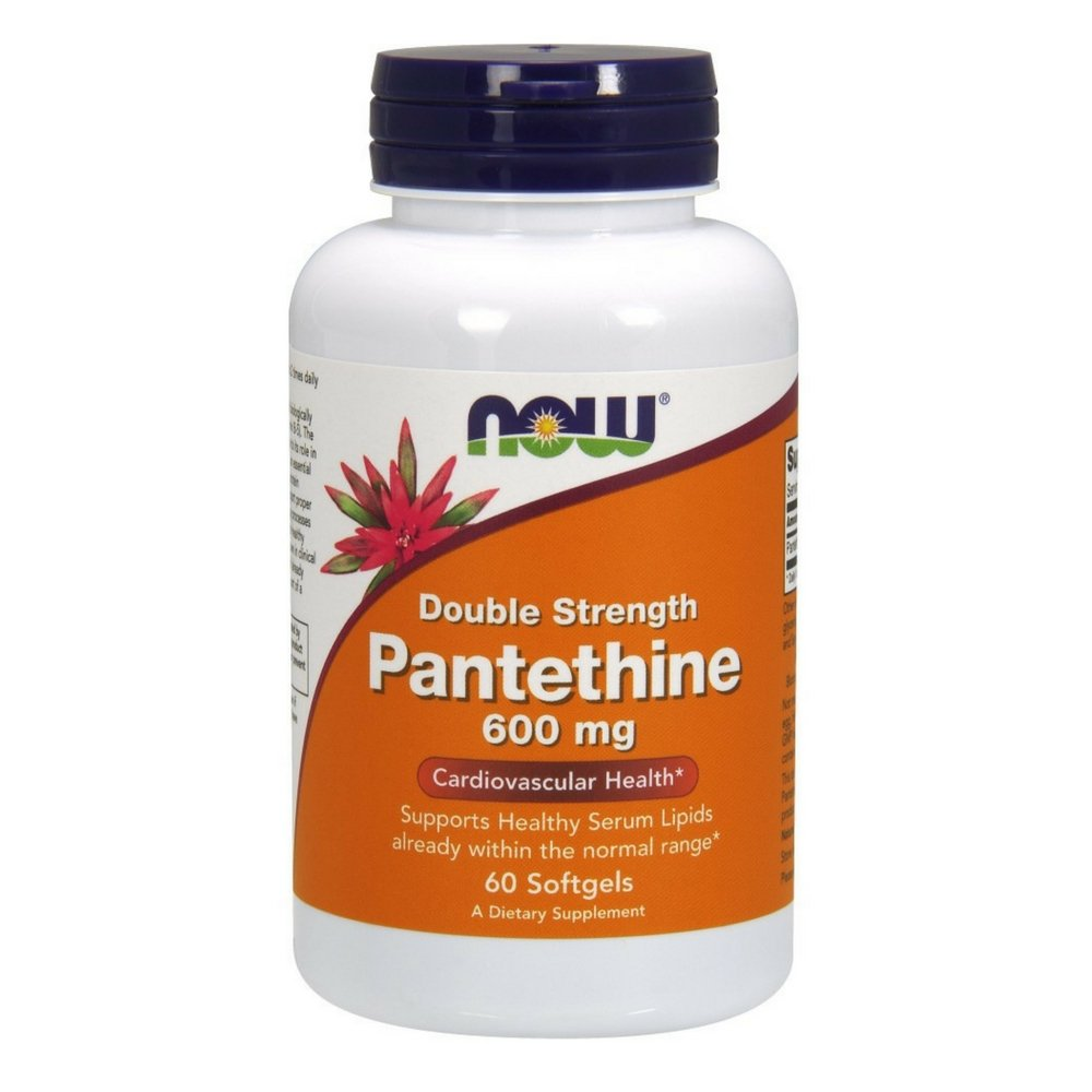 NOW Pantethine 600 mg,60 Softgels