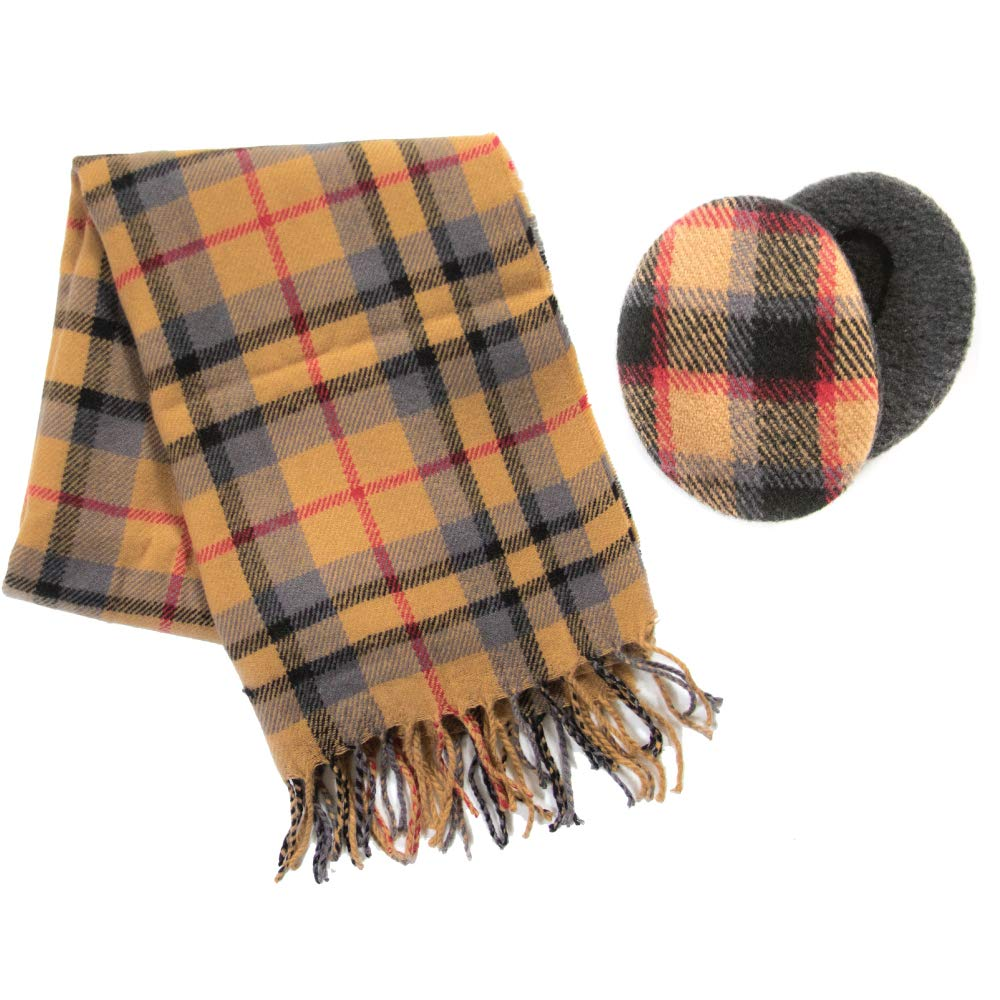 Earbags Bandless Ear Warmers /& Matching Winter Scarf Set