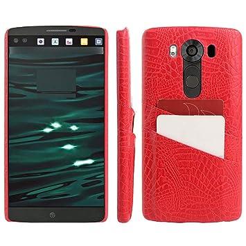 LG V10 funda con tapa, de la tarjeta ranura para tarjetas casos de ...