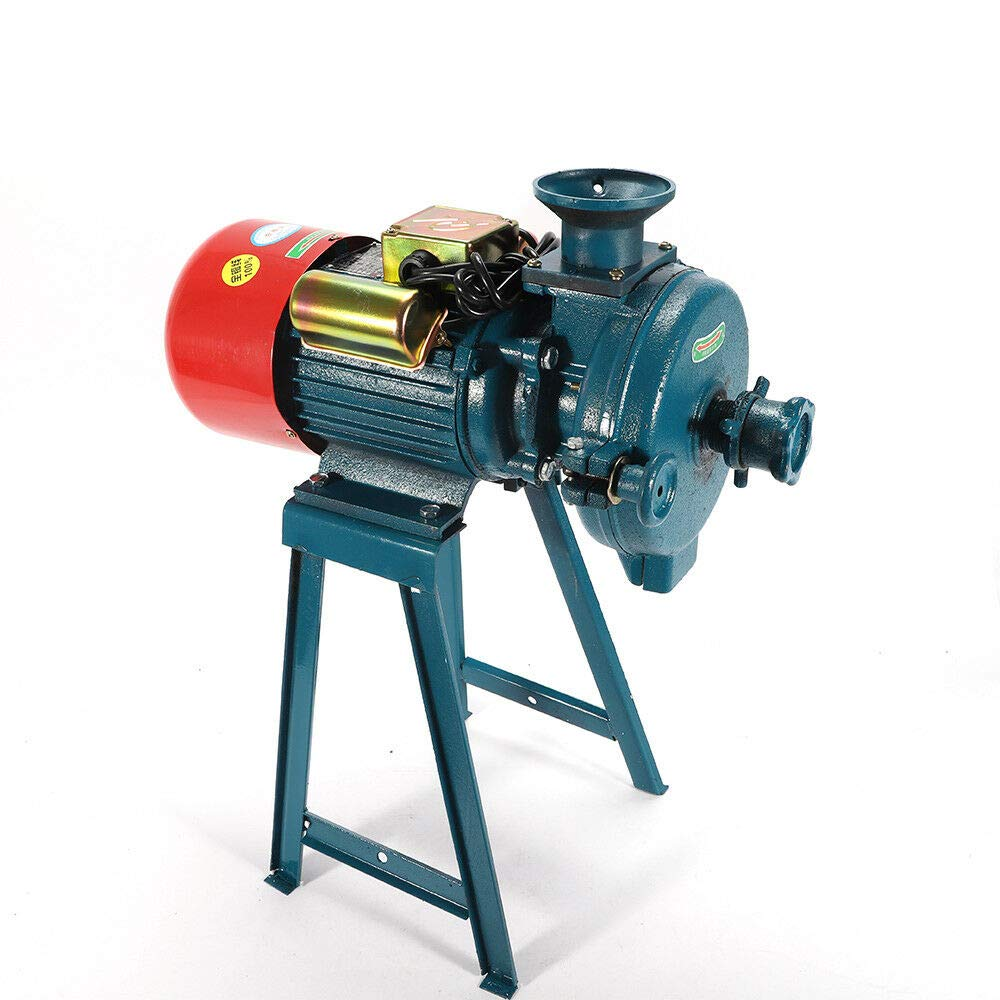Mill Grinder US Shipping Electric Grinder Machine Grain Dry Feed Flour Milling Machine Cereals Grinder Rice Corn Dry Cereals Coffee Wheat with Funnel 220V 1500W