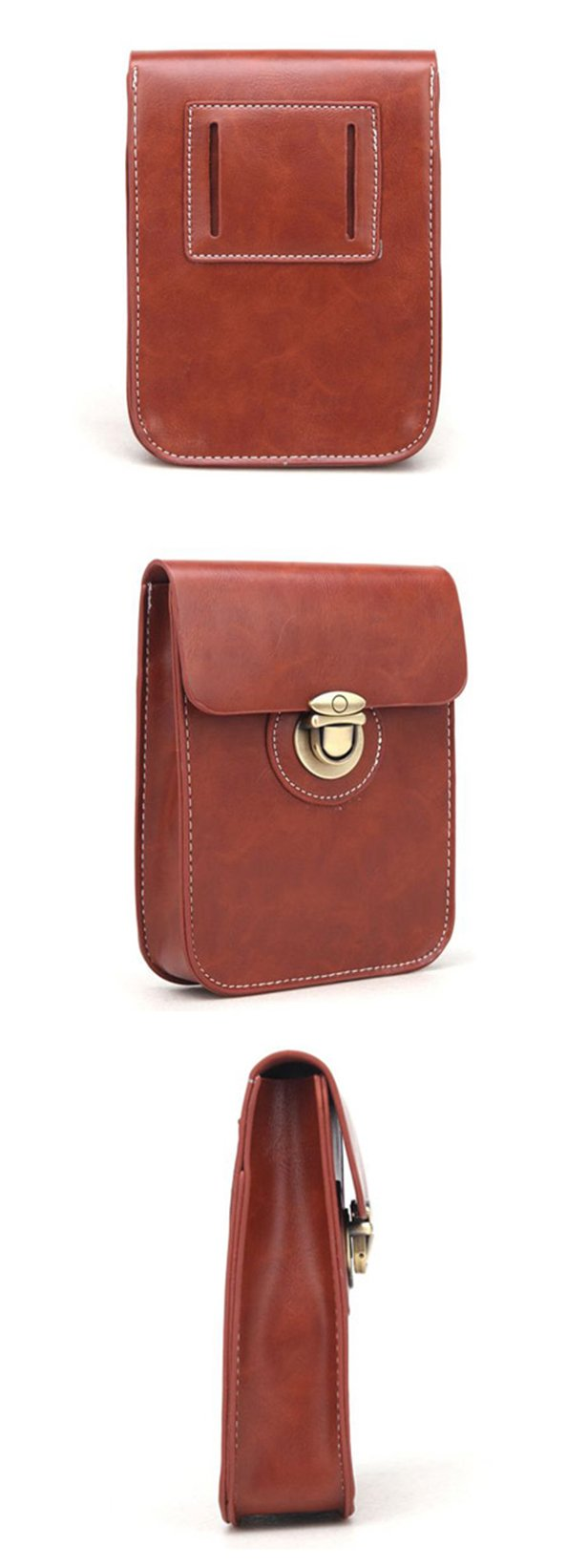 Woman Girl Purse Bag Pocket Fanny Pack Mini Wallet Purse Phone Bag Waist Casual Bag Alleviate Burdens on Shoulder Bag for Travel (Brown)