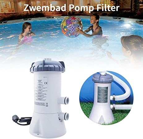 L.J.JZDY Filtro de la Piscina Piscina Bomba de Limpiador de Filtro Verano Piscina del Agua de Limpieza Kit Alberca Bomba de circulación purificador de 220V: Amazon.es: Hogar