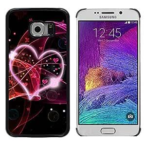 Be Good Phone Accessory // Dura Cáscara cubierta Protectora Caso Carcasa Funda de Protección para Samsung Galaxy S6 EDGE SM-G925 // Abstract Hear Love