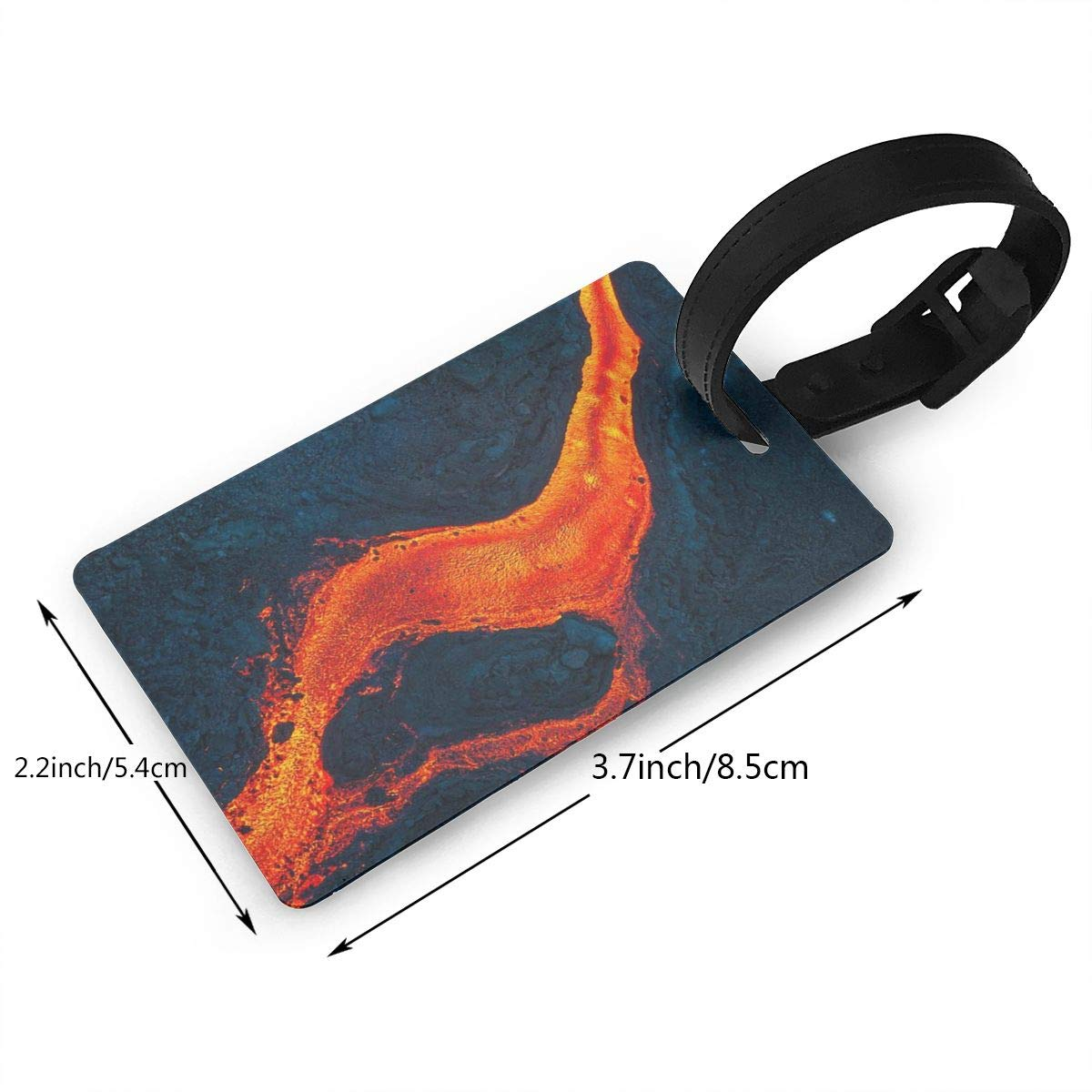 2 Pack Luggage Tags Volcano Erupting Handbag Tag For Travel Tags Accessories
