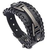 Amazon Price History for:HCHIDS Men Leather Bracelet Punk Braided Rope Alloy Bracelet Bangle