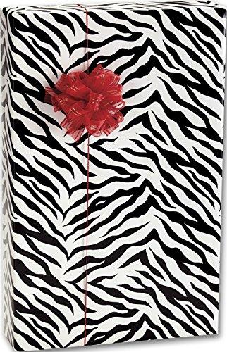 Everyday Gift Wrap - Zebra Stripes Jeweler's Roll Gift Wrap, 7 3/8