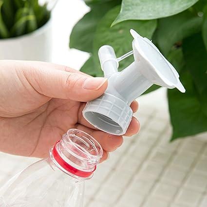 Botella de hemore para aspersor 2 en 1 boquilla de plástico para botella de flor,