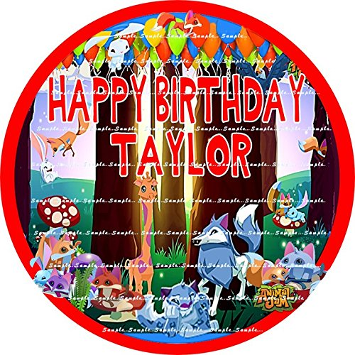 ANIMAL JAM : ROUND Personalized edible birthday Party Cake topper decoration premium frosting sheets