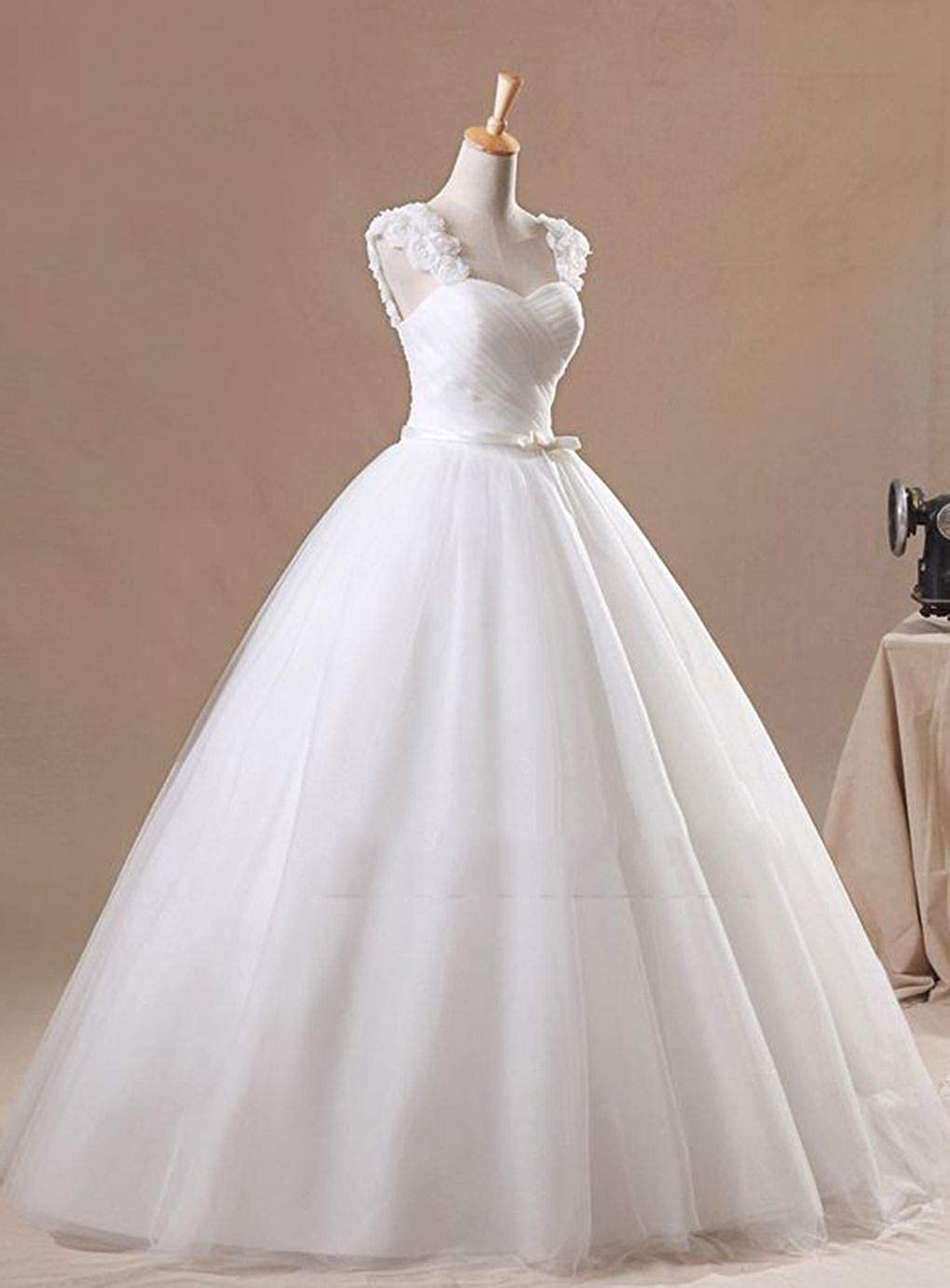 Snowskite Womens Sweetheart Puffy Ball Gown Wedding Dress