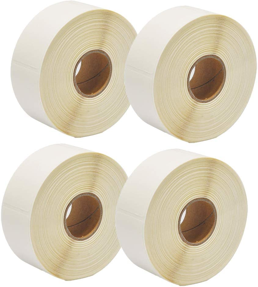 Blank White 1 x 2 Inch Dissolvable Labels for Food Rotation Prep roll of 500 (4 Rolls)