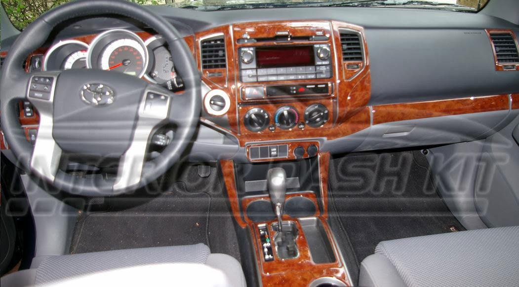 Amazon.com: TOYOTA TACOMA QUAD CAB ACCESS CAB INTERIOR WOOD DASH TRIM KIT  SET 2012 2013 2014 2015: Automotive