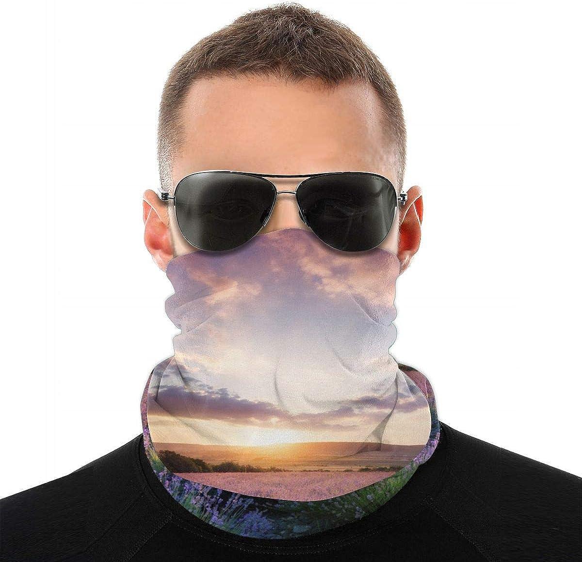 Novelty Bandana Headband Set Landscape Of Mountains And Rivers Sport Sun Protection Windproof Dust Face Scarf Headdress
