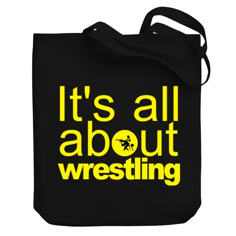 Teeburon ALL ABOUT Wrestling Canvas Tote Bag