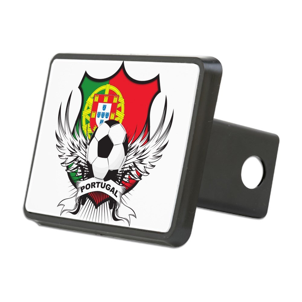CafePress Blk Trailer Hitch Cover Truck Receiver Hitch Plug Insert .Png Portugal Soccer