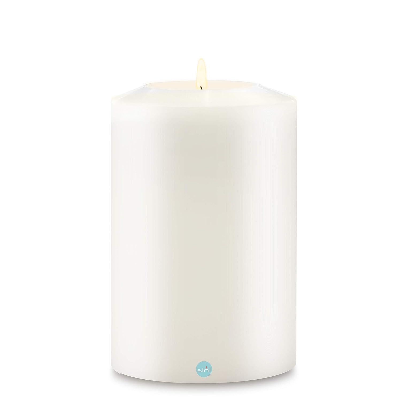 SiN  Teelichthalter Classic Weiß - 12cm ∅ - Teelichthalter in Kerzenform (Höhe 25cm)