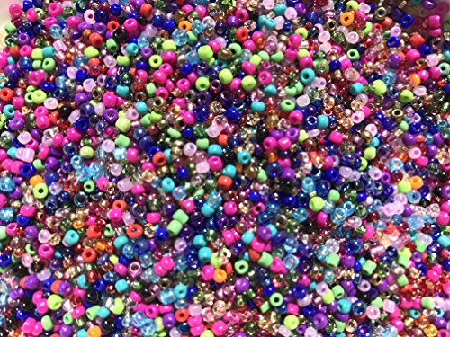 Czech Glass Seed Beads Assorted Mix Colors Size:11/0 50 gr / 1.76 -