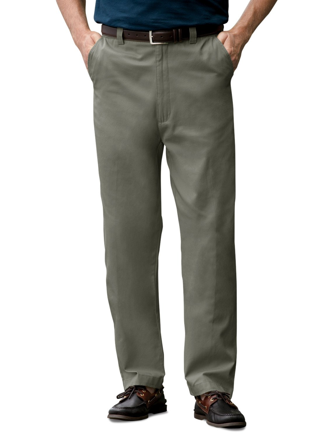 Harbor Bay DXL Big and Tall Waist-Relaxer Flat-Front Twill Pants