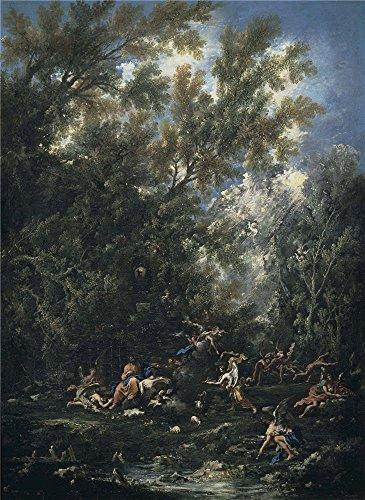 (Oil Painting 'Magnasco Alessandro Peruzzini Antonio Francesco Cristo Servido Por Los Angeles Ca. 1705' 20 x 27 inch / 51 x 70 cm , on High Definition HD canvas prints,)
