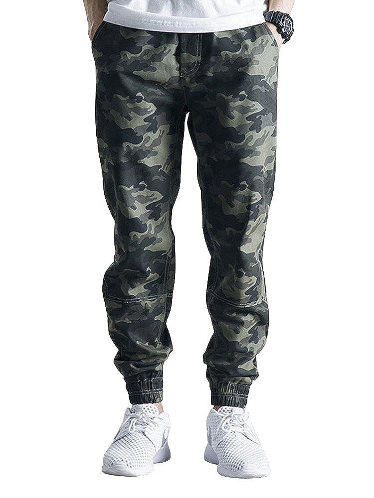OCHENTA Men's Regular Fit Chino Jogger Cargo Pant O9037-1