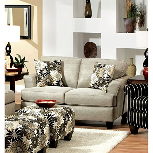 Furniture of America Helms Loveseat in Pewter