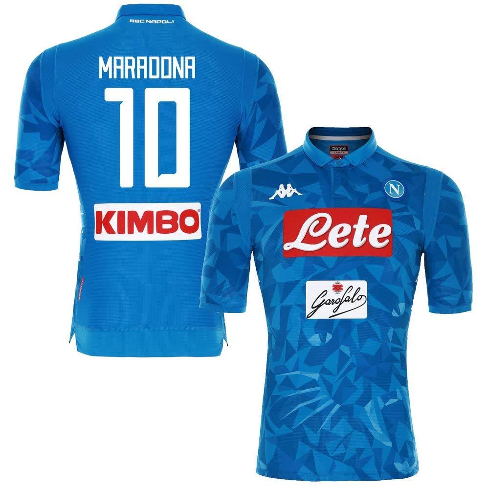 Neapel Home Match Trikot 2018 2019 + Maradona 10 (Fan Style)