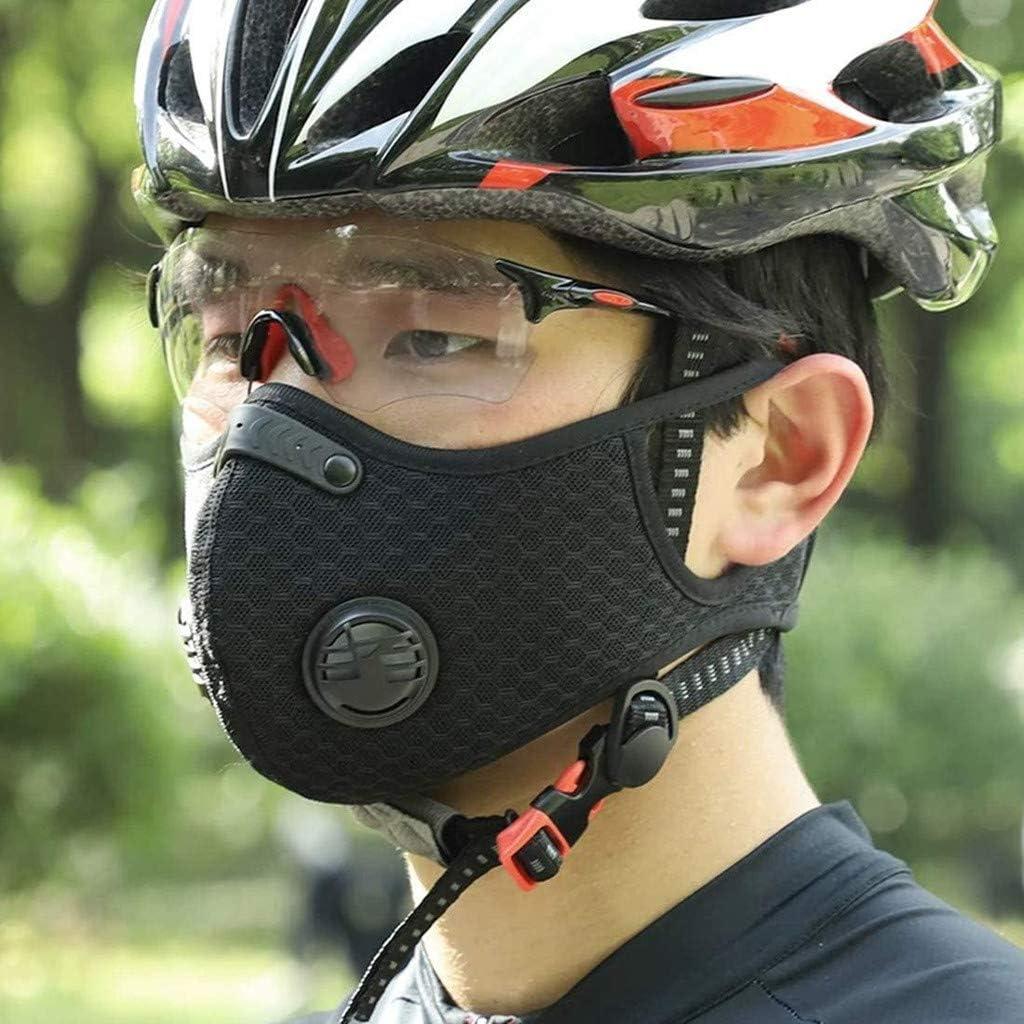 4valves Half Face Reusable Dustproof Face M/àsc for Adults Black Ussuma Unisex Reusable Face C-Over with 4 Replacement Sheet