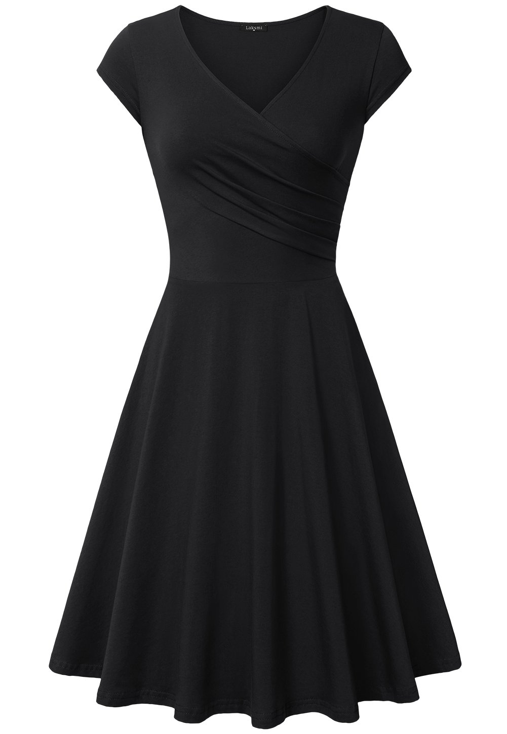 Laksmi Graduation Dress, Women Sexy Cocktail Vintage Business Affordable Dress,Large All Black