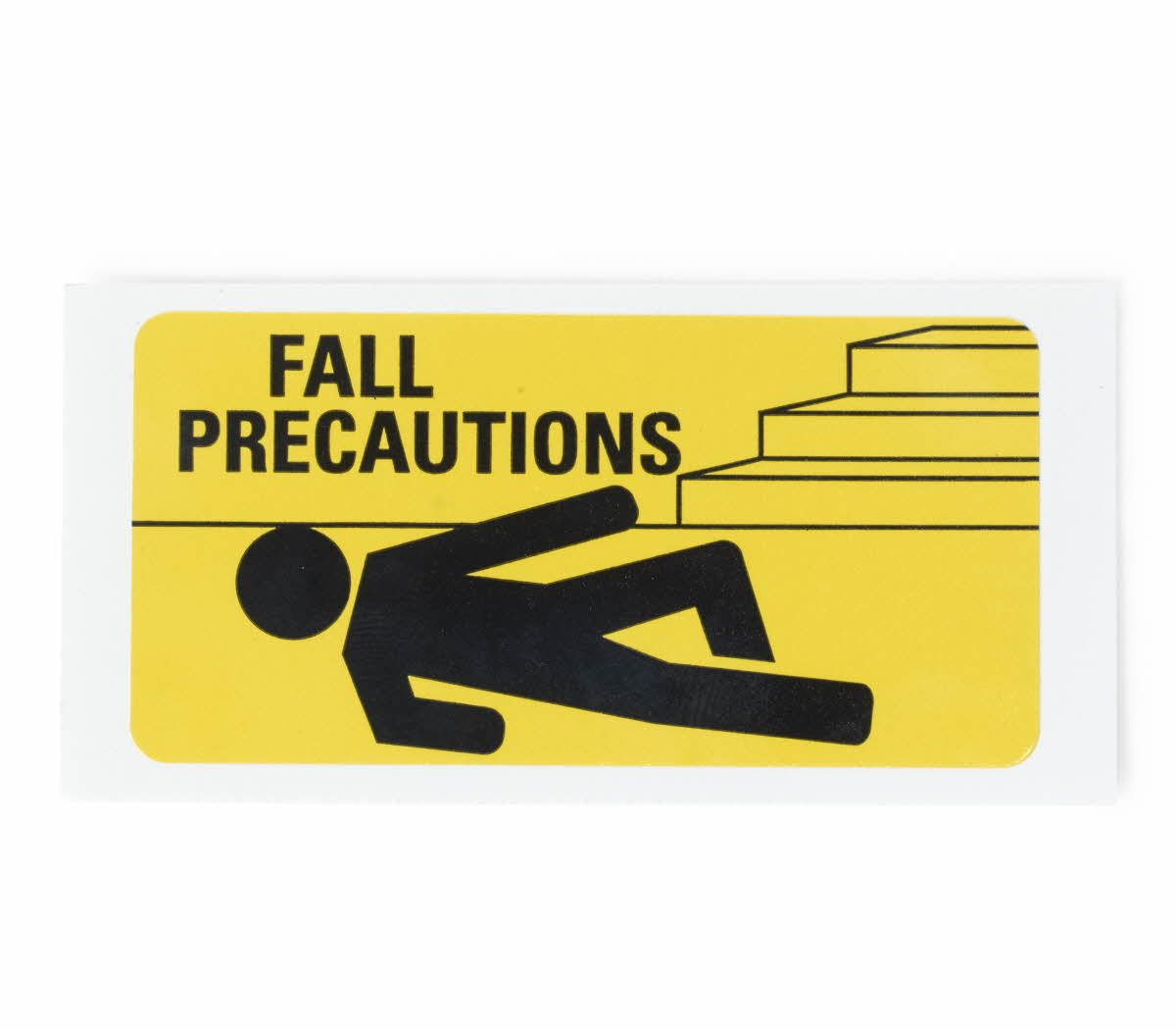 Medline DYK100FPLBL Fall Precaution Labels, 3'' x 1.5'', Yellow (Pack of 13000)