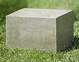 Campania International PD-174-AL Textured Low Square Pedestal, Small, Aged Limestone Finish