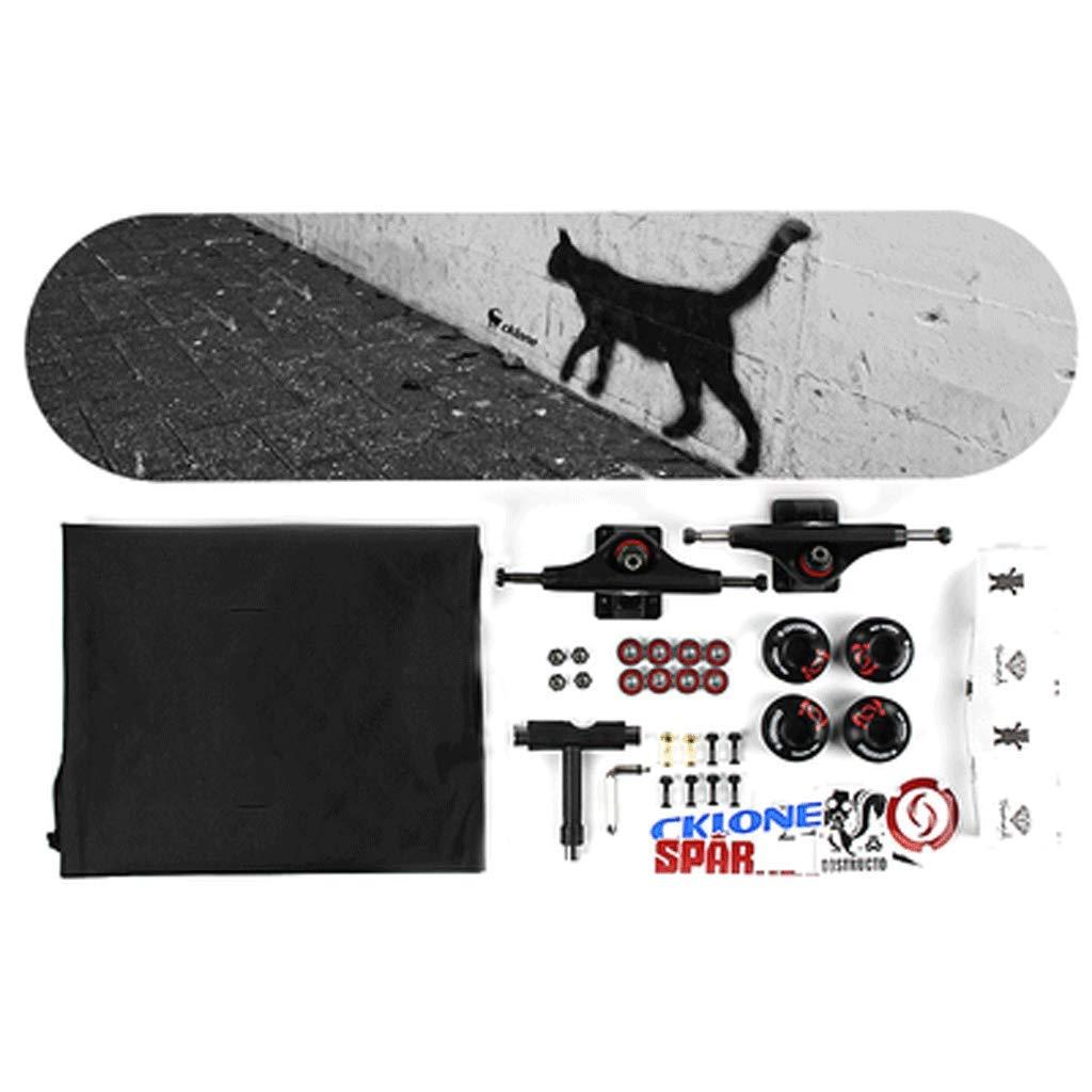 世界的に ショートボード両側傾斜スケートボード大人の子供男性と女性四輪スケートボード初心者組立プロスケートボード (色 Cat's shadow : Face) B07L3P7JGN Cat's shadow shadow Cat's shadow, グランマーケット:2f788d40 --- a0267596.xsph.ru