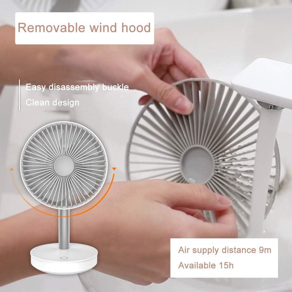 Handheld Fan, Draagbare Personal Fan Oplaadbare Batterijen Gevoede Powered Cooling Desktop Elektrische Ventilator Met Base, 4 Snelheden,Black White hgtLsozp