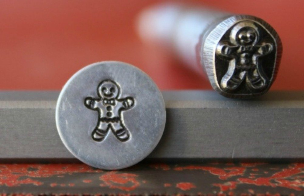 SUPPLY GUY 7mm Single Metal Punch Design Stamp: Holiday SNOWMAN DK-23 not a set Made in USA
