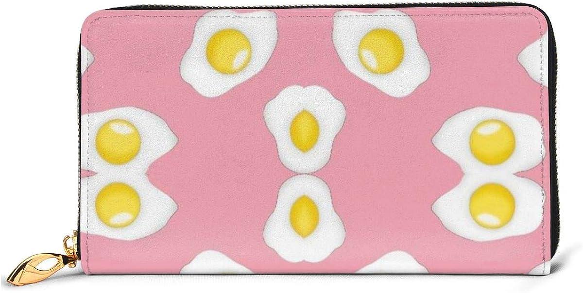 Lovely Eggs Pattern Wallets For Men Women Long Leather Checkbook Card Holder Purse Zipper Buckle Elegant Clutch Ladies Coin Purse