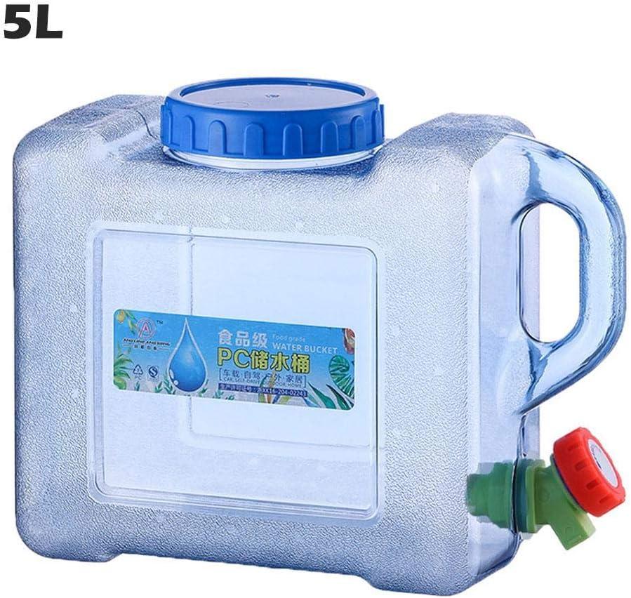 5L / 8L Bidón Plástico con Grifo, Contenedor De Agua Portátil, Tanque De Almacenamiento Agua, Seguro, No Tóxico Y De Gran Capacidad, Adecuado para El Uso De Coches De Viaje De Campo