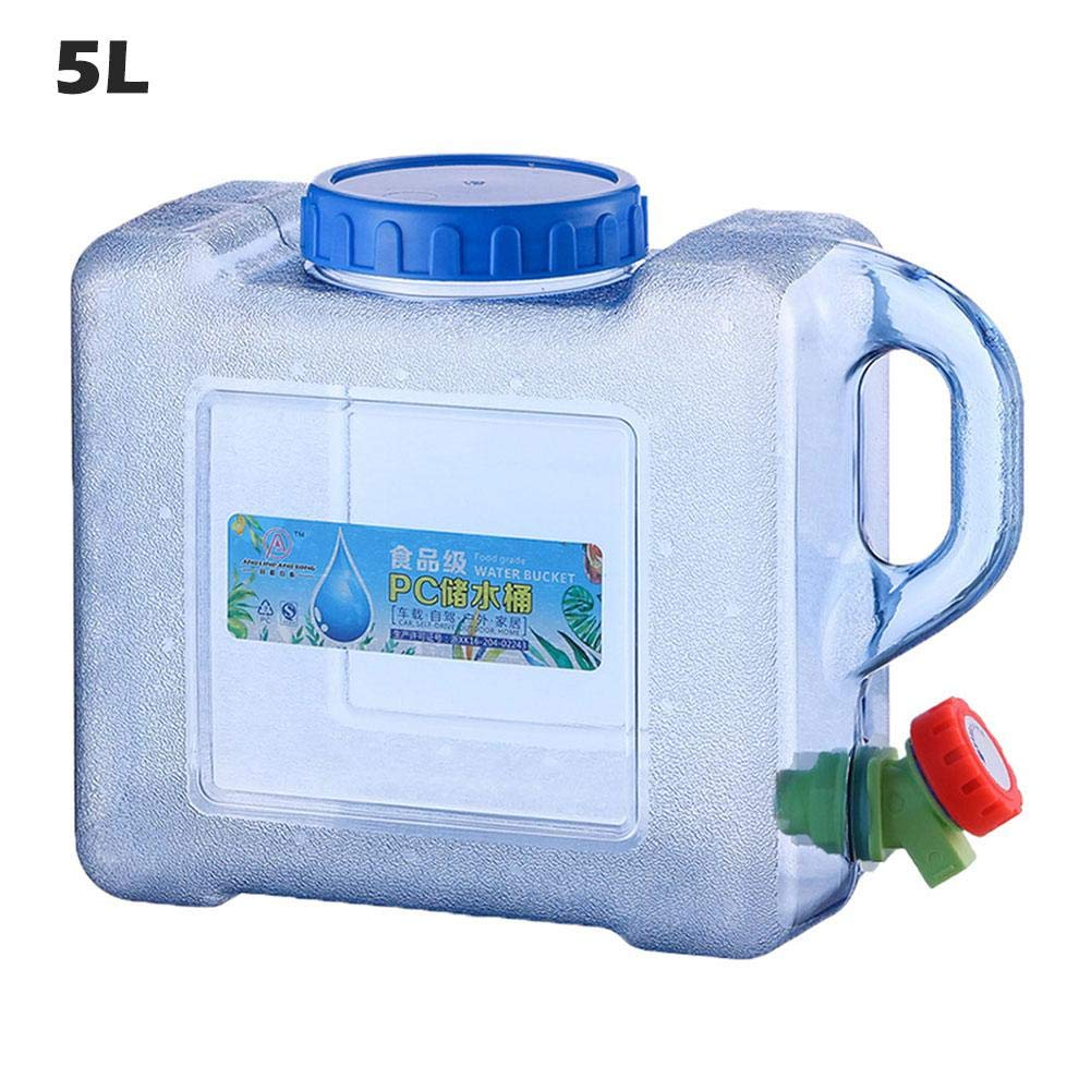 ditional Camping Bucket Car Portable Handheld Water Container Outdoor Self-Driving Tour with Faucet Camping Square Barrel Plastic Storage Bucket
