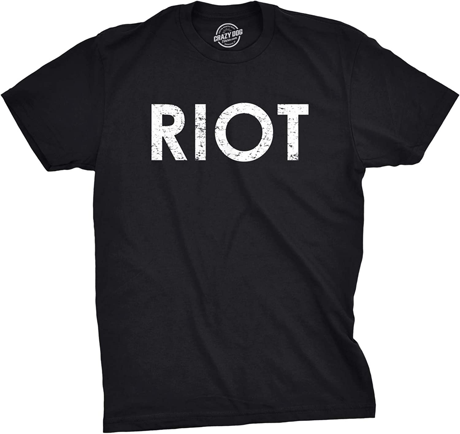 Riot T Shirt Funny Shirts for Men Political Novelty Sarcastic Adult Tees Humor