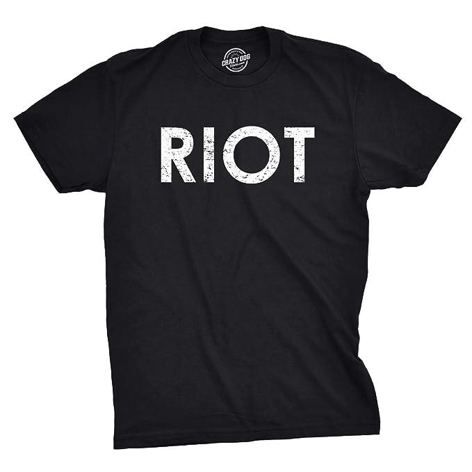 12ffdf26 Riot T Shirt Funny Shirts for Men Political Novelty Tees Humor (Black) - S