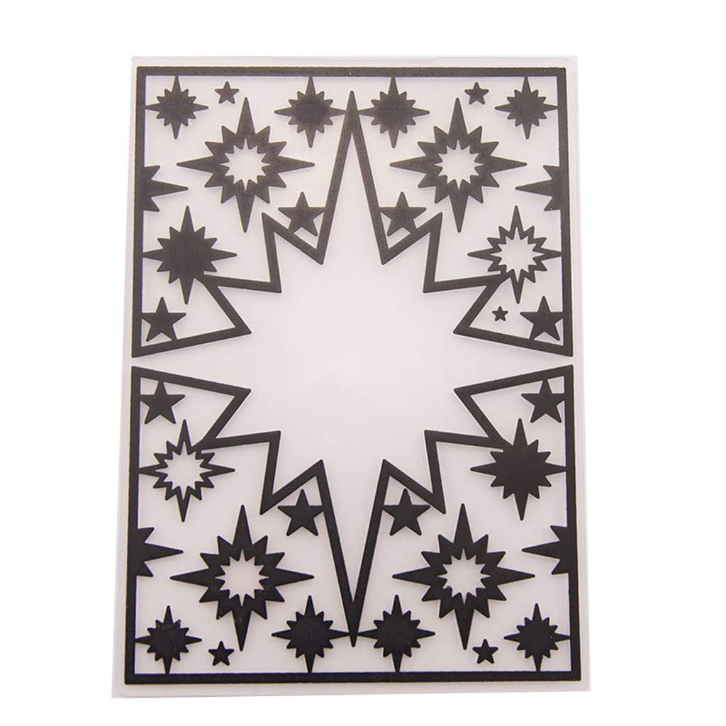Fafalloagrron plastica goffratura modello DIY scrapbook photo album di fai da te Star