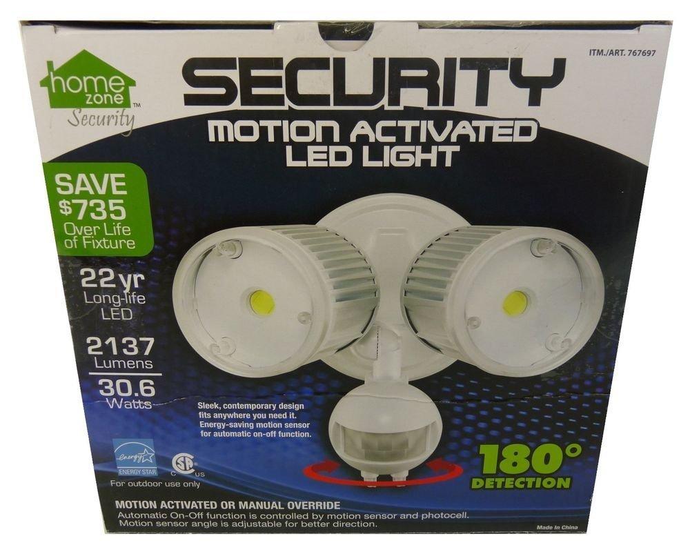 Home Zone 64321 Mark 1 Outdoor LED Flood Security Light, 30W, 2200 Lumen, White