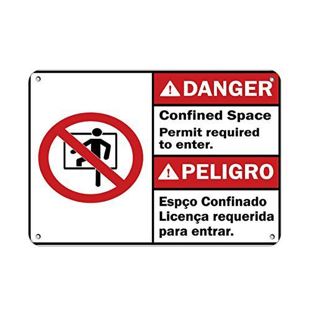 MiMiTee Danger Confined Space Permit Required to Enter ...