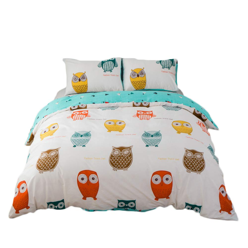 Amazon Com Clothknow Owl Girls Bedding Sets Twin Duvet Cover Sets