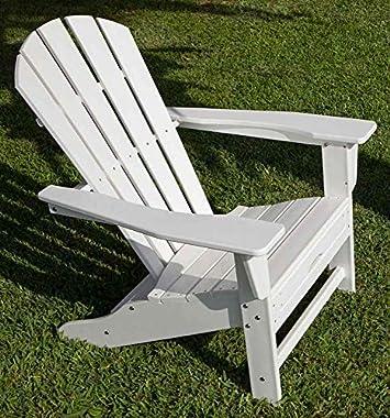 Polywood HNA15WH Palm Coast Adirondack Chair, White