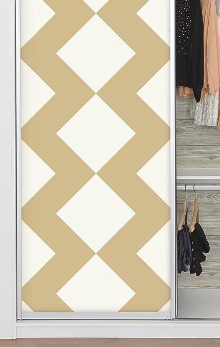 RoomMates RMK9076RL Large Tan Chevron Peel And Stick Wallpaper Decor