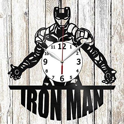Iron Man Vinel Record Wall Clock Home Art Decor Original Gift Unique Design Handmade Vinyl Clock