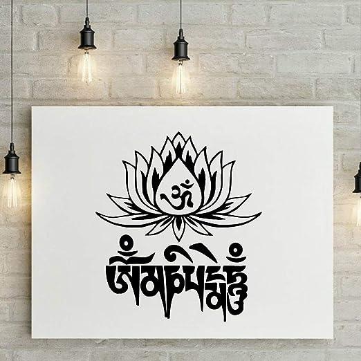 Ajcwhml Familia Mandala Lotus Tatuajes de Pared Decoración del ...