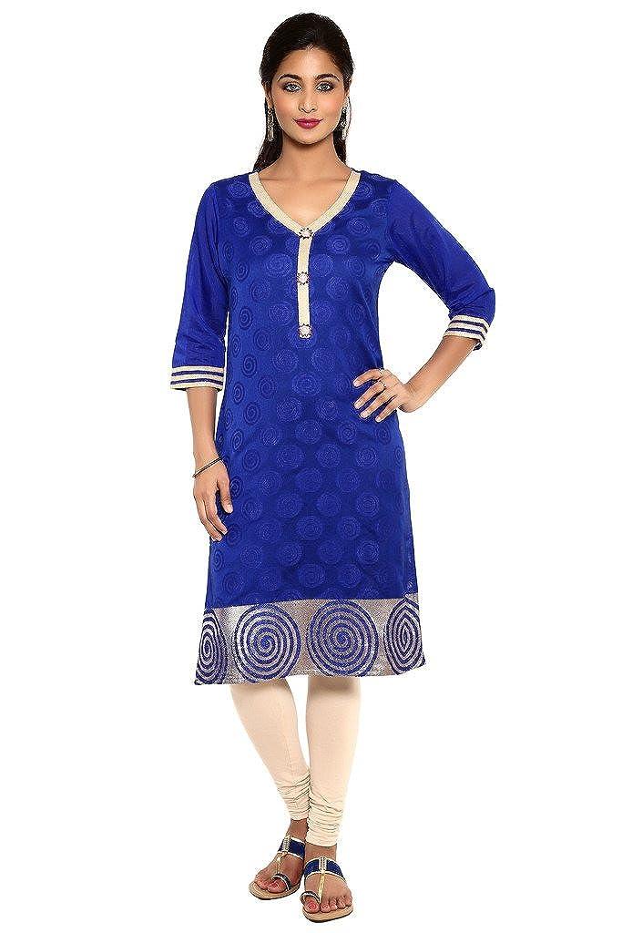 622214a0f4 Aaboli Royal Blue Chanderi Straight Long Kurta: Amazon.in: Clothing &  Accessories