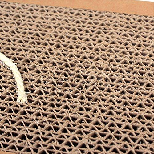 durable service ZJKC 3 PCS Large Size Non-toxic Sisal Hemp Cat Scratch Board Grinding Nail Scratching Post Corrugated Cat Plush Scratch Mat Cats Kitten Scratching Board