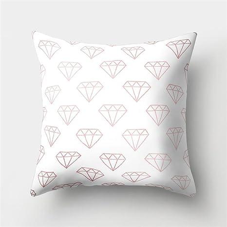 Almohada Diamante Rose Oro impresión Impreso Sofá Decoración ...